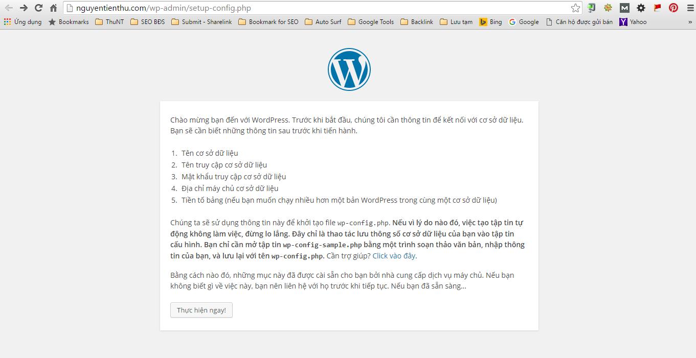 Hướng dẫn cài đặt WordPress làm website