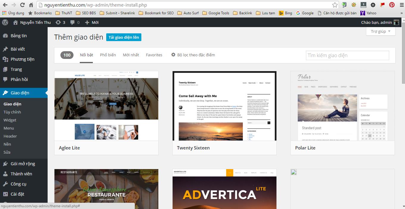 Thêm giao diện WordPress