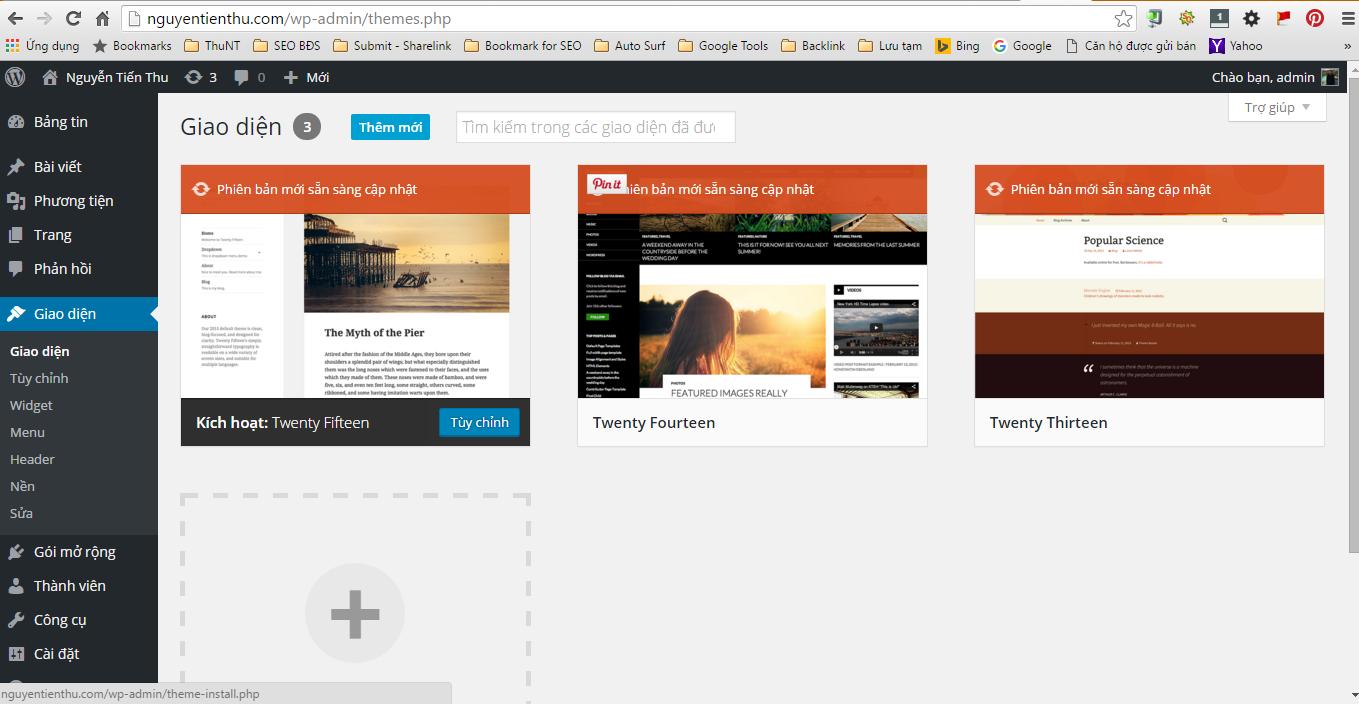 Thêm mới giao diện WordPress