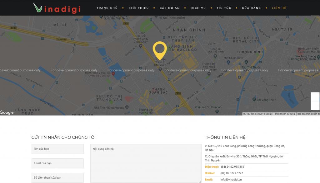 "Fix lỗi bản đồ Google Maps trên Website hiển thị ""For development purposes only"""