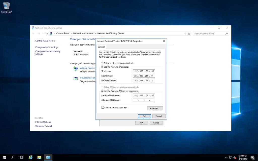 Xây dựng Domain Controller trên Windows Server 2016/2012/2008/2003 đặt IP cho máy Domain Controller