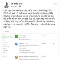 Cảnh báo của thành viên Vũ Tiến Đạt - một người làm Affiliate tại Hà Nội