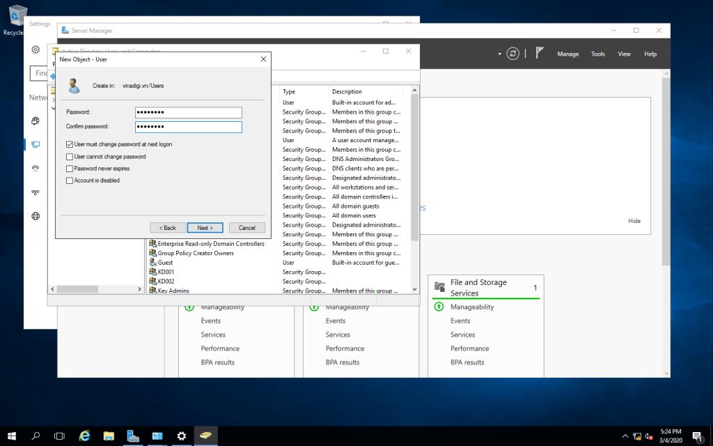 Xây dựng Domain Controller trên Windows Server 2016